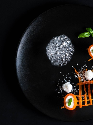 Example Food photography - Gorgeous image of beautifully styled food on a dark plate.